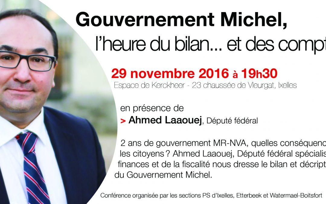 Débat : Gouvernement Michel, l'heure du bilan… et des comptes