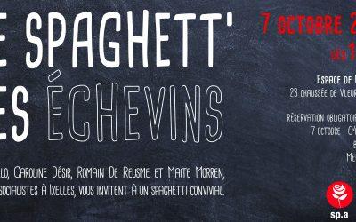 7 OCTOBRE : Spaghett' des échevins